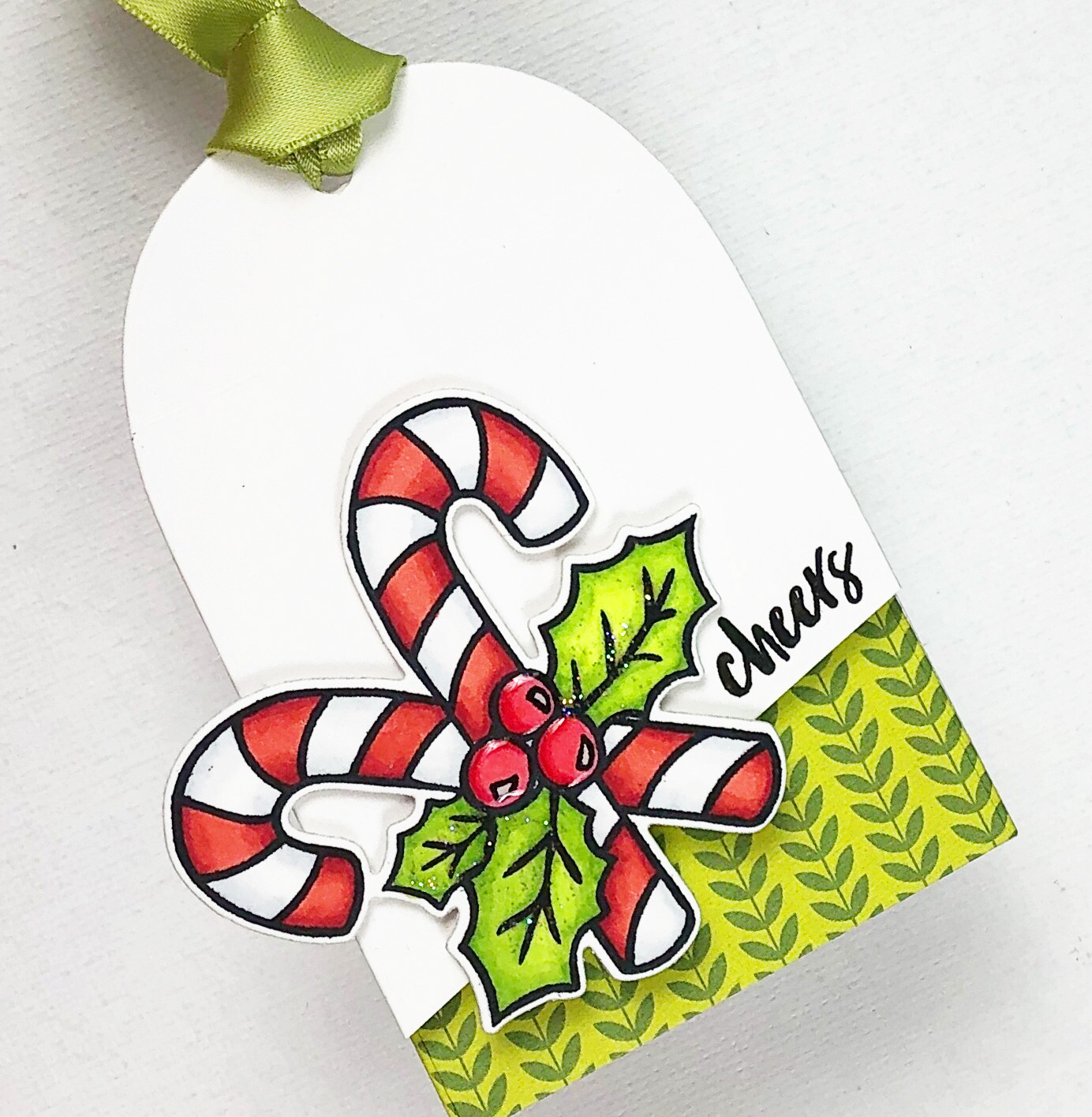 Candy Cane Tag Close Up