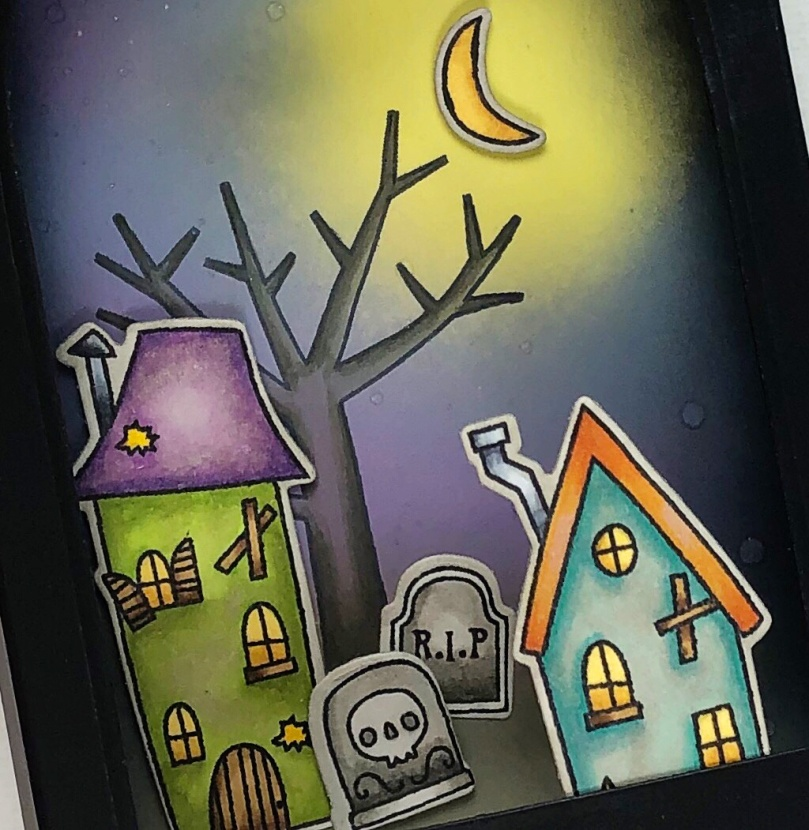 Halloween Shadowbox Close Up