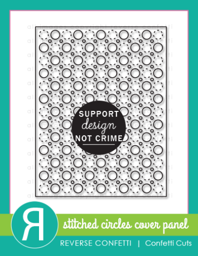 stitched circles cover panel